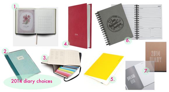 2014 diary choices